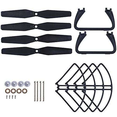 Holy Stone Spare Parts Drone Accessories Kits for Drone HS110D Black, HS200D Black and HS200D Red RC Quadcopter