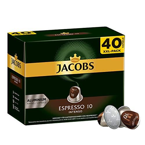 Jacobs Kaffeekapseln Espresso Intenso (nur für kurze Zeit) Megapack XXL, Intensität 10 von 12, 200 Nespresso kompatible Kapseln (5 x 40 Kapseln)