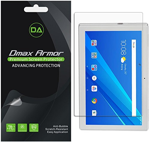[3-Pack] Dmax Armor for Lenovo Tab 4 10 (10.1 inch) Screen Protector, Anti-Bubble High Definition Clear Shield
