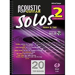 Acoustic Pop Guitar Solos 2: Noten & TAB – medium/advanced