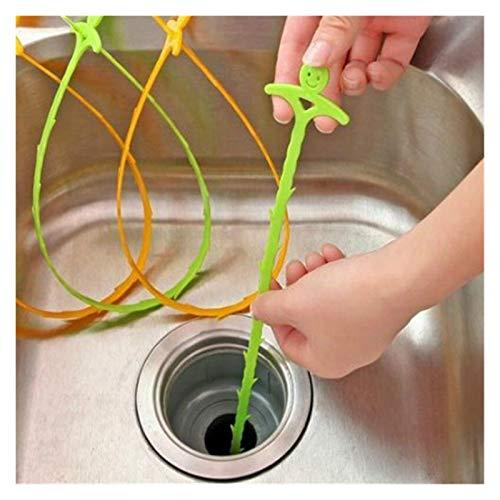 WLKJ Geschirr Spüle Reinigung Haken Badezimmer Bodenablauf Kanalisation Dredge Device Tool (Color : Random Color)