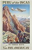 Mr.sign Peru of The Incas Travel Blechschilder Vintage
