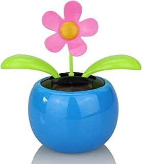 Honmofun Solar Dancing Flower Solar Dancing Flower for Car Solar Dancing Flower Sunflower Apple Flower Blue Novelty Desk Car Toy Solar Power Dancing Toy