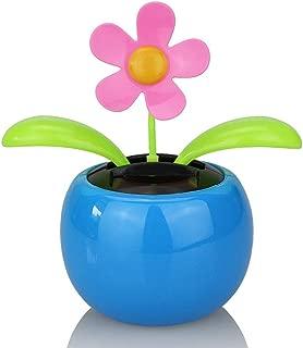 Honmofun Solar Dancing Flower Solar Dancing Flower for Car Solar Dancing Flower Sunflower Apple Flower Blue Novelty Desk Car Toy Solar Power Dancing Toy