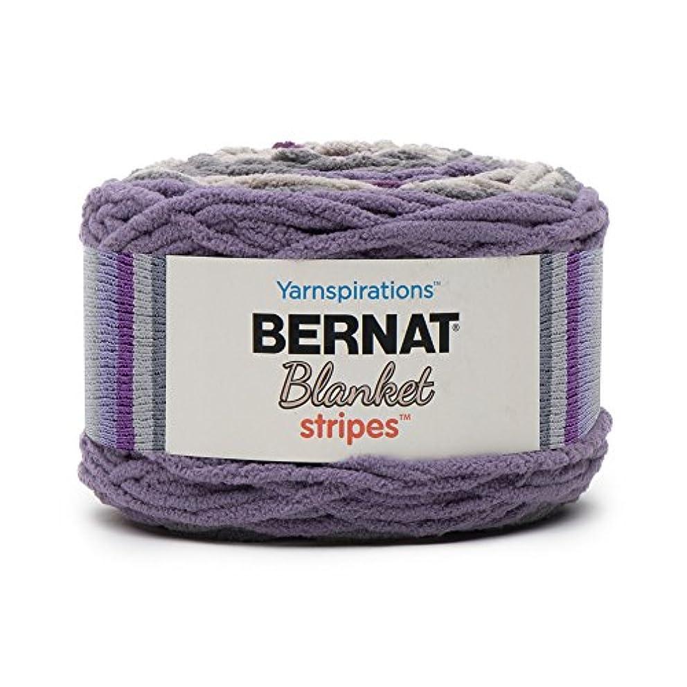 Bernat Blanket Stripes Yarn, 10.5 oz, Gauge 6 Super Bulky Chunky, Eggplant