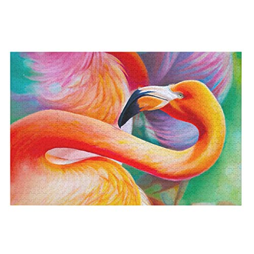 Portrait of a flamingo Puzzle 200/300/500/1000 Pieces Large Puzzle Set Educational Gift for Adults and Teens white 500pieces