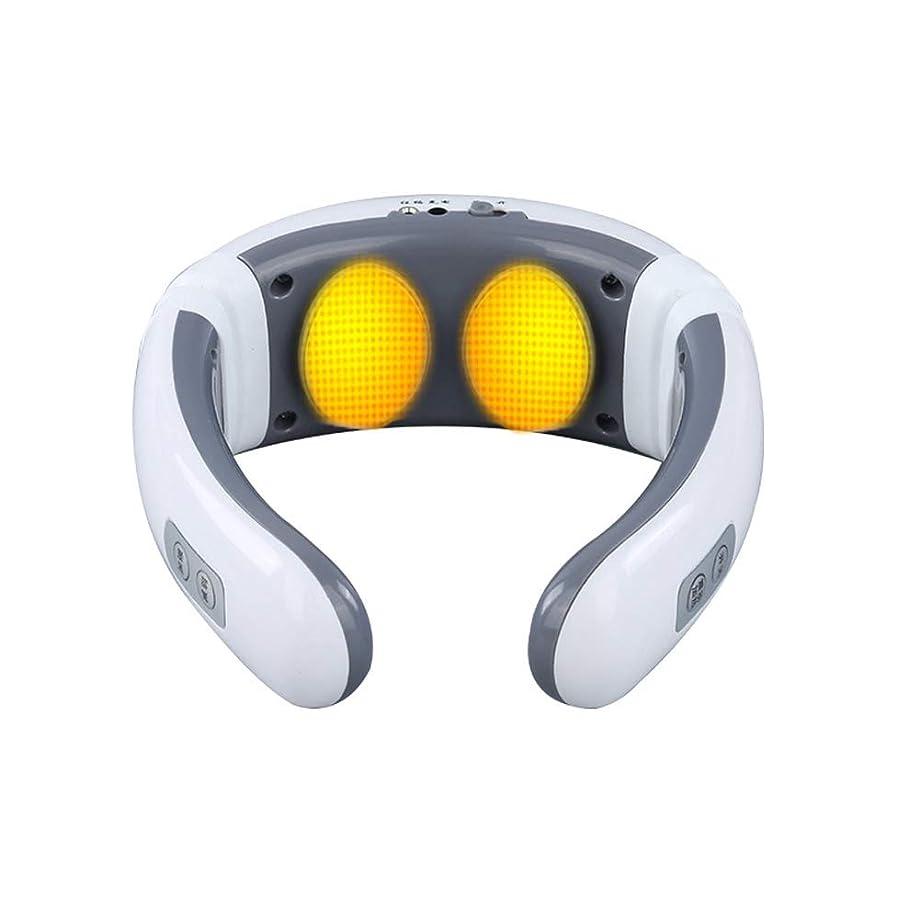 Rakoko 首マッサージャー 正規品 ネックマッサージャー マッサージ器 首 肩 腰 ネック 背中 肩こり 腕 多機能 6つモード usbで充電式 母の日 ストレス解消 疲労回復 事務所 自宅 車中 温熱機能 (USB充電式)