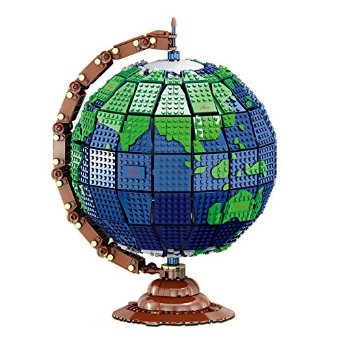 OviTop Globe Building Blocks Model of the Globe Earth, Educational Collectible STEM toy for Kids - 2420 Pcs