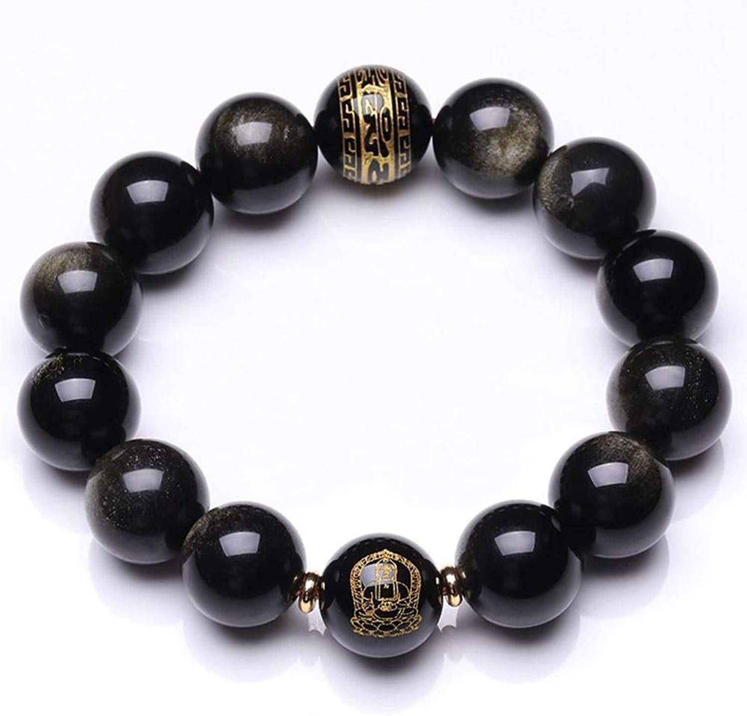 Zicue Stylish Charming Bracelet Exquisite Ornaments Natural Kim Yao bracelet for men and women gifts ( Size   10MM )