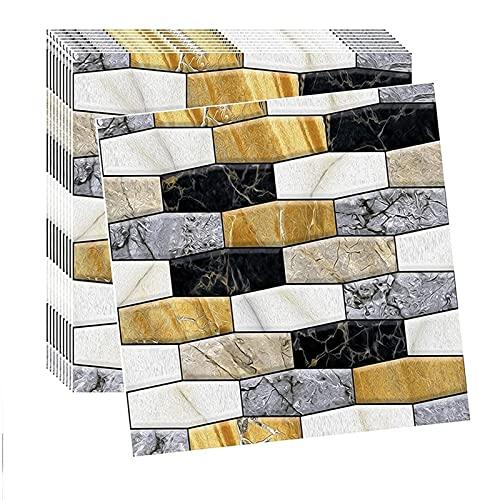 WYDMBH Paneles de Pared de PVC 20pcs / Pack 3D Panel de Pared ladrillo Autoadhesivo Pegatinas de Pared Impermeable Papel Tapiz for la Sala de Estar Fondo de Pared decoración