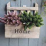 Attaccatura di legno del cestino del fiore di montaggio a parete Vaso da fiori Vaso fioriera per Cofanetti Casa il giardino domestico Patio Prato Bianco Decorazione Mobili da giardino