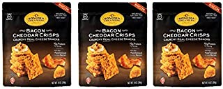 Sonoma Creamery Cheese Crisps - Bacon Cheddar 3 Count Pack Savory Cheese Cracker Snack High Protein Low Carb Gluten Free Wheat Free (10 Ounce (3 Count) ea.)