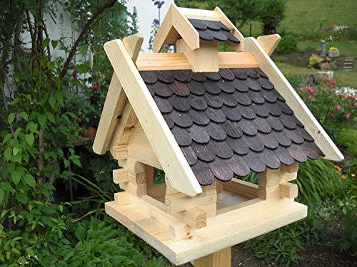Vogelhaus Vogelhäuser- (V03)- Vogelfutterhaus Vogelhäuschen-aus Holz- Schreinerarbeit-Exotic Schwarz
