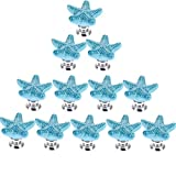 RuiyiF 12 Pack Starfish Knobs for Cabinets, Ceramic Dresser Knobs Hardware Handle Pulls (Blue)QQ740154538