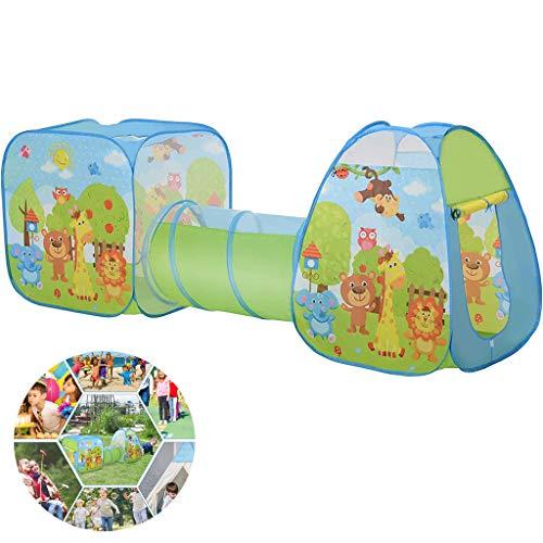 3-in-1 Pop-up Tent Kinderen, Pop-up Speelhuis Met Ballenbak, Binnenspeeltuin Speelhuisje Peuters Kruipen Kind Speelgoed Cadeau Tunnel Leuke Tekening Op Oppervlak Binnenshuis Buitentuin