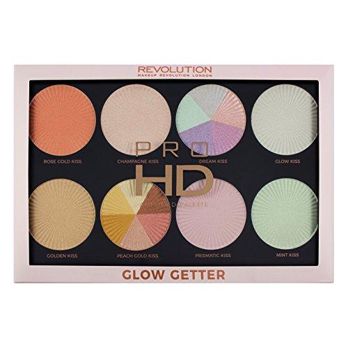 Makeup Revolution Pro HD Amplified Palette Glow Getter Paleta rozświetlaczy
