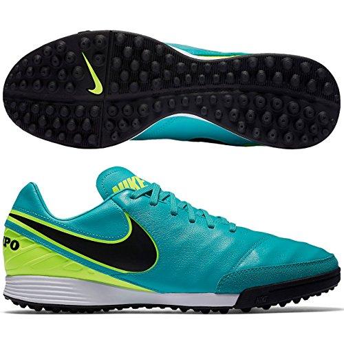 Nike Herren Tiempo Mystic V TF Fußballschuhe, Grün Clear Jade Volt Black, 46 EU