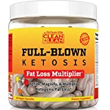 Clean+Lean Full-Blown KETOSIS: First Ever Ketogenic Fat Loss Multiplier | BHB Ketones + MCT Oil +CLA | Apple Cider Vinegar + DMAE + Thyroid Boosters+ Immune Support | All-in-on Diet Accelerator