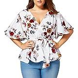 Blusas para Mujer Rawdah Mujer Sexy Blusa Estampado De...