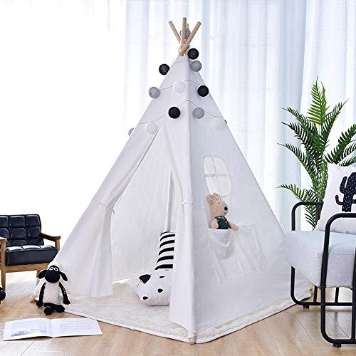 Gedeihen Tipi Indio para Ninos, Casas para Niños, Tienda Campaña Infantil - Lona de Algodón Importada, Plegable, 120m * 120cm * 156cm