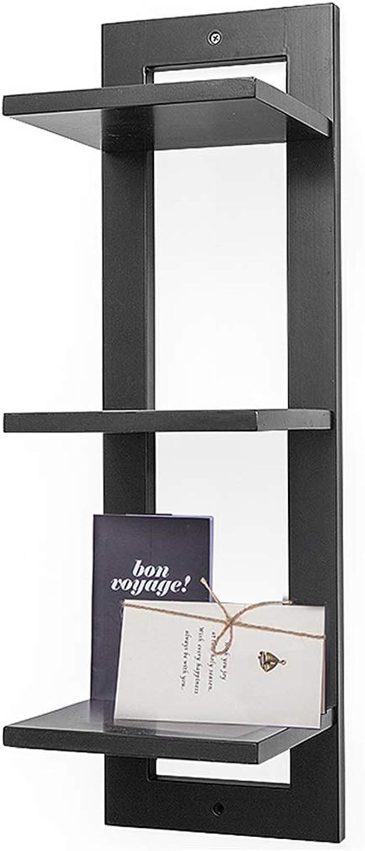 C-K-P Nordic Wall Racks, Bedroom Wall Hanging Bookshelf Creative Wall Solid Wood Decorative Frame