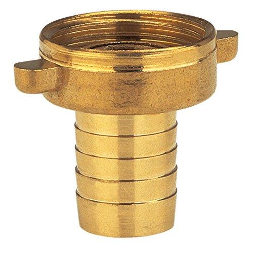 Gardena Messing-Schlauchverschraubung 2-teilig: Verschraubung aus hochwertigem Messing, 33.3 mm (G 1 Zoll)-Gewinde, für 19 mm (3/4 Zoll)-Schläuche (7141-20)