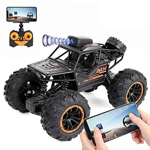 XIAOKEKE 1:18 RC Auto Mit HD FPV WiFi Kamera, 2,4 Ghz Ferngesteuertes Offroad Auto Spielzeug, Rock Crawler Fahrzeug, Geländewagen Geschenk Für Kinder Jugendlichen Erwachsene