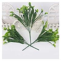 シミュレーション植物草事務所勉強リビングルーム家の装飾アクセサリー植物鉢植えシミュレーション草人工植物 (Color : Green)