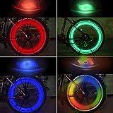 TAGVO LED Roue Lumières (Rouge + Vert + Bleu + Multicolore) Lot de 4, Rayons de Roue Vélo pour VTT VTC Bicyclette Adultes et...