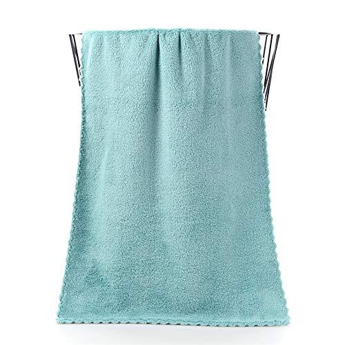 Conjunto de toalla de cara Microfibra Absorbente Baño Toallas para el hogar para la cocina Tapas de secado rápido más grueso para limpiar toallas de algodón de toallas de mano Hojas de baño blanco