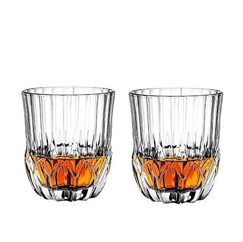 Vaso de Whisky, vaso de Cristal de Plomo,vaso de Ginebra, Regalo único Para los Amantes del Whisky 2PCS-320ML