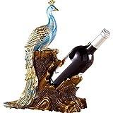 YAeele Decoraciones del Arte del Arte del Pavo Real de la decoración Enfriador de Vino botellero casa salón Regalo botellero