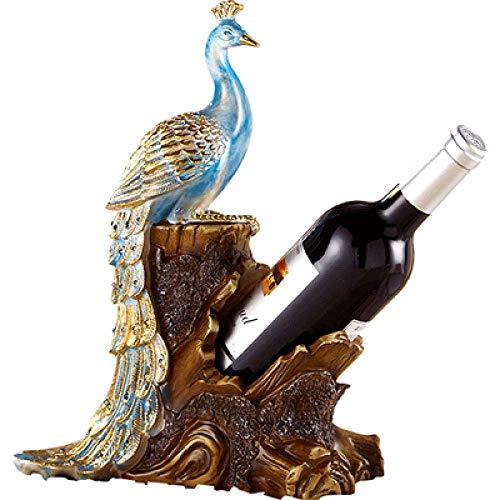 LKAIBIN ジュエリーアートクラフトピーコックワインラックワインクーラーの装飾ホームリビングルームワインラックの贈り物