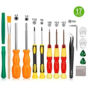 Triwing Screwdriver for Nintendo Switch - Younik 17in1 Professional Full Triwing Screwdriver Repair Tool Kit for Nintendo Switch/New 3DS/Wii/NES/SNES