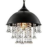 BayCheer Lámpara de techo con diseño industrial y piedras de cristal, estilo...