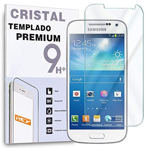 REY Protector de Pantalla para Samsung Galaxy S4 Mini Cristal Vidrio Templado Premium