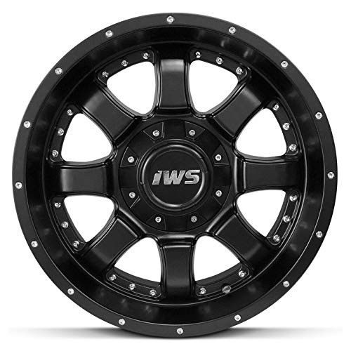 Partsynergy Replacement For 17 Inch Matte Black Wheels Rim 6x139.7 6x135-12mm Fits Ford Chevy GMC - Set Of 4