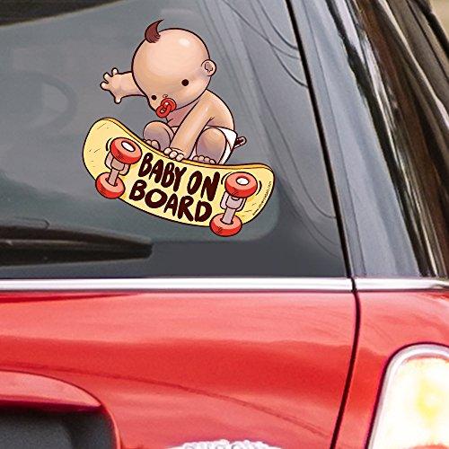 올리버의 레이블 스케이팅 아기 스티커 자동차 창 데칼 17 재미 있은 액세서리