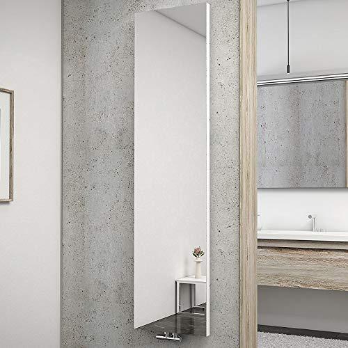 Schulte H034010 04 Heizkörper New York mit Spiegel, 180 x 45 cm, 50 mm Mittelanschluss, alpinweiß, Wohnraumheizkörper für Zweirohr-System
