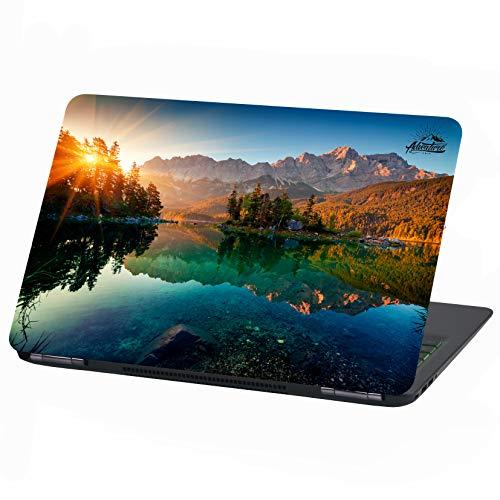 Laptop Folie Cover Adventure Klebefolie Notebook Aufkleber Schutzhülle selbstklebend Vinyl Skin Sticker (17 Zoll, LP29 Zugspitze)