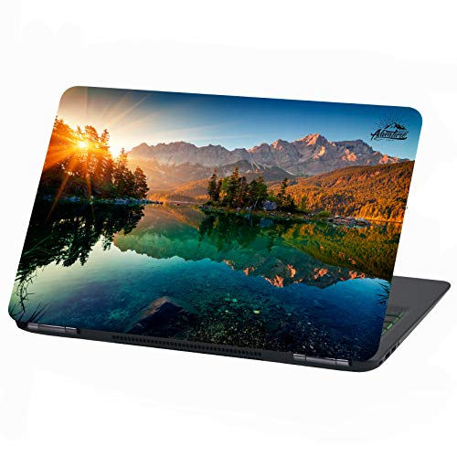 Laptop Folie Cover Adventure Klebefolie Notebook Aufkleber Schutzhülle selbstklebend Vinyl Skin Sticker (15 Zoll, LP29 Zugspitze)