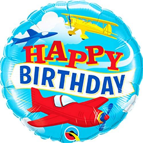 Qualatex 18in Verjaardag Vliegtuigen Folie Ballon