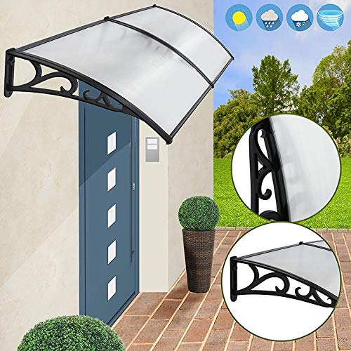 LXXL Door Canopy Awning, Door Canopy,Window Canopy Awning,Sun Rain Shelter Roofing Canopie,Sun Shade Door Patio Cover,UV Protection Shade Cover (Size : 60×160cm)