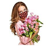 20PC Einweg Mundschutz Erwachsene Nasenbügel Sommer Halstuch Staubschutz Atmungsaktive Bandanas Mundbedeckung mit Blumenmuster Lätzchen Muttertagsgeschenk Schals Staubdichte für Männer und Frauen