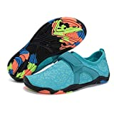 WALUCAN Girls' & Boy's Water Shoes Kids Aqua Shoes Athletic Sneakers Lightweight Sport Shoes(Toddler/Little Kid/Big Kid) U319SSX001,M.wblue,31