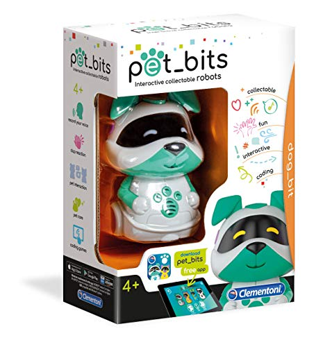 Clementoni- Dog Bit Sapientino Pet Bits Robot Educativo Collezionabile Coding, Multicolore, 12099