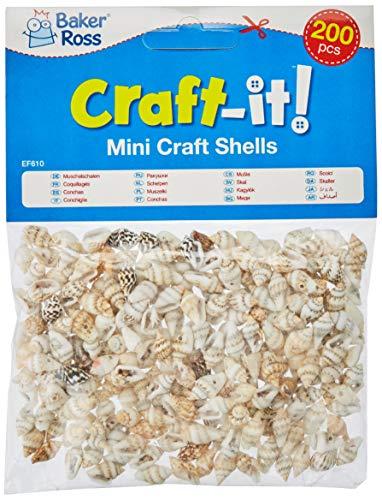 Baker Ross EF610 Natürliche Mini-Muscheln, für Kinder zum Basteln, 200 Stück
