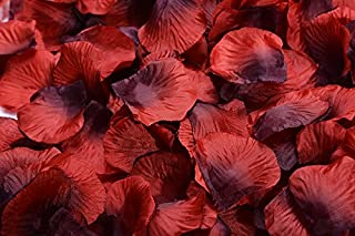 Magik 1000~5000 Pcs Silk Flower Rose Petals Wedding Party Pasty Table Decorations, Various Choices (3000, Red & Black)