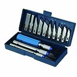 Silverline 251094 - Juego de cúters y cuchillas, 16 pzas
