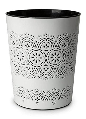 Canyon 9 Litre Flora Waste Container Basket Storage Bin for Office Room Bathroom Usage (White)